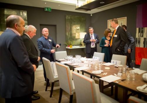 Martyn Sakol and guests at the Ham Yard Hotel